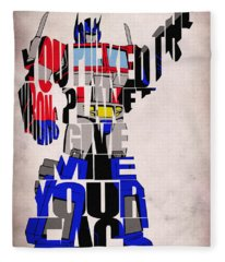 Optimus Prime Fleece Blanket