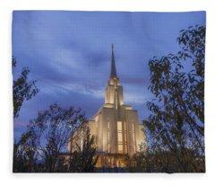Oquirrh Mountain Temple II Fleece Blanket