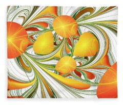 Orange Attitude Fleece Blanket