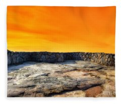 Orange Blaze Fleece Blanket