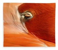 Flamingo Orange Eye Fleece Blanket
