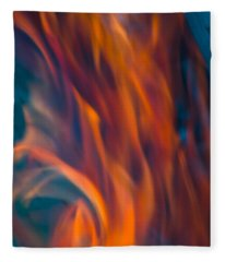 Orange Fire Fleece Blanket
