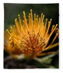 Orange Grevillea Fleece Blanket
