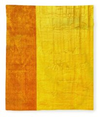 Orange Pineapple Fleece Blanket