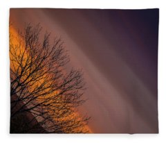 Orange Sunrise Fleece Blanket