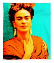 Orange You Glad It Is Frida Fleece Blanket
