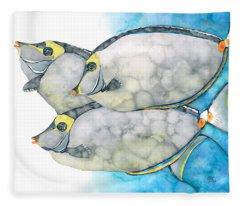 Orangespine Unicornfish Fleece Blanket