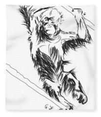 Orangutan 3 Fleece Blanket