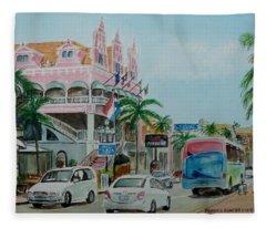 Oranjestad Aruba Fleece Blanket