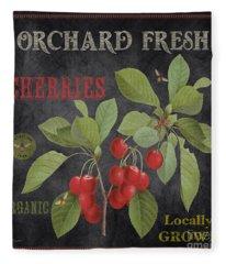 Orchard Fresh Cherries-jp2639 Fleece Blanket