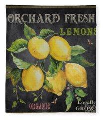 Orchard Fresh Lemons-jp2679 Fleece Blanket