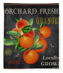 Orchard Fresh Oranges-jp2641 Fleece Blanket