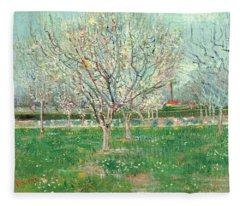 Orchard In Blossom, 1880  Fleece Blanket