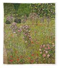 Orchard With Roses Obstgarten Mit Rosen Fleece Blanket
