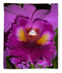 Orchid Flames Fleece Blanket