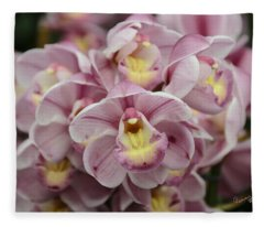 Orchid Bouquet Fleece Blanket