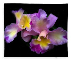 Orchid Embrace Fleece Blanket