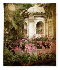 Orchid Exhibition Fleece Blanket