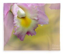 Orchid Whisper Fleece Blanket