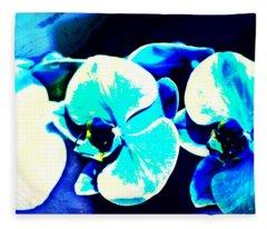 Orchids Of Ranetta Fleece Blanket