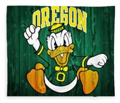 Oregon Ducks Barn Door Fleece Blanket