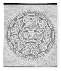 Oreo In Grey Fleece Blanket