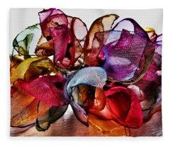 Organza Petals Fleece Blanket