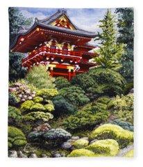 Oriental Treasure Fleece Blanket