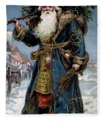 Original Santa Claus Pre Cola Red Redesign Fleece Blanket