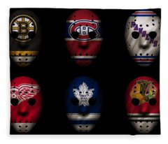 Original Six Jersey Mask Fleece Blanket