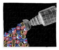 Original Six Stanley Cup 2 Fleece Blanket
