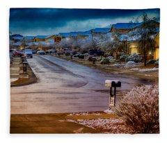 Oro Valley Winter No.54 Fleece Blanket
