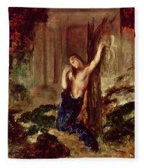 Orpheus At The Tomb Of Eurydice Fleece Blanket