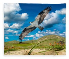 Osprey On Shackleford Banks Fleece Blanket