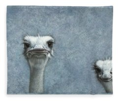 Ostriches Fleece Blanket