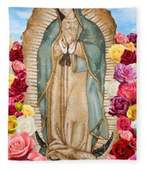 Our Lady Of Guadalupe Fleece Blanket