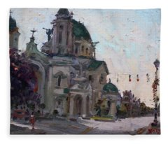 Our Lady Of Victory Basilica Fleece Blanket