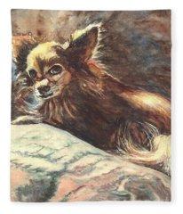 Chihuahua Angel Fleece Blanket