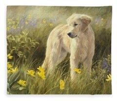 Out In The Field Fleece Blanket