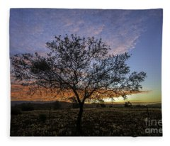 Outback Sunset  Fleece Blanket