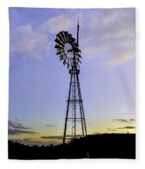 Outback Windmill Fleece Blanket