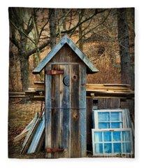 Outhouse - 5 Fleece Blanket