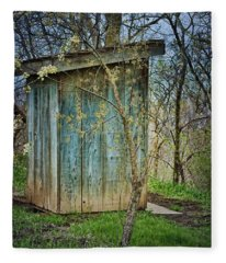 Outhouse In Spring Fleece Blanket
