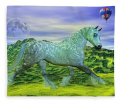 Over Oz's Rainbow Fleece Blanket