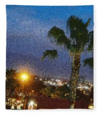 over the Luckman AT My CSU L.A. Fleece Blanket