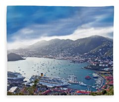 Overlooking The Bay Fleece Blanket