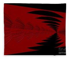 Red And Black Design Fleece Blanket