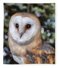Owl - Bright Eyes 2 Fleece Blanket