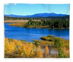 Oxbow Bend, Grand Teton National Park Fleece Blanket