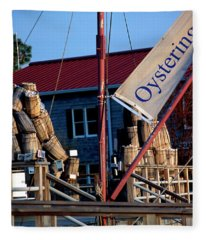 Oystering History At The Maritime Museum In Saint Michaels Maryland Fleece Blanket